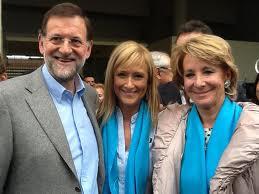 Mariano Rajoy, Presidente del gobierno, Cristina Cifuentes, Delegada del Gobierno en la Comunidad de Madrid y Esperanza Aguirre, entonces presidenta de dicha comunidad.